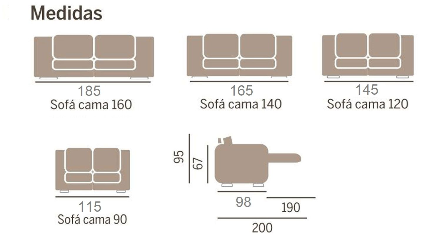 Sof cama vigo sofas cama apertura italiana for Chaise longue 4 plazas baratos