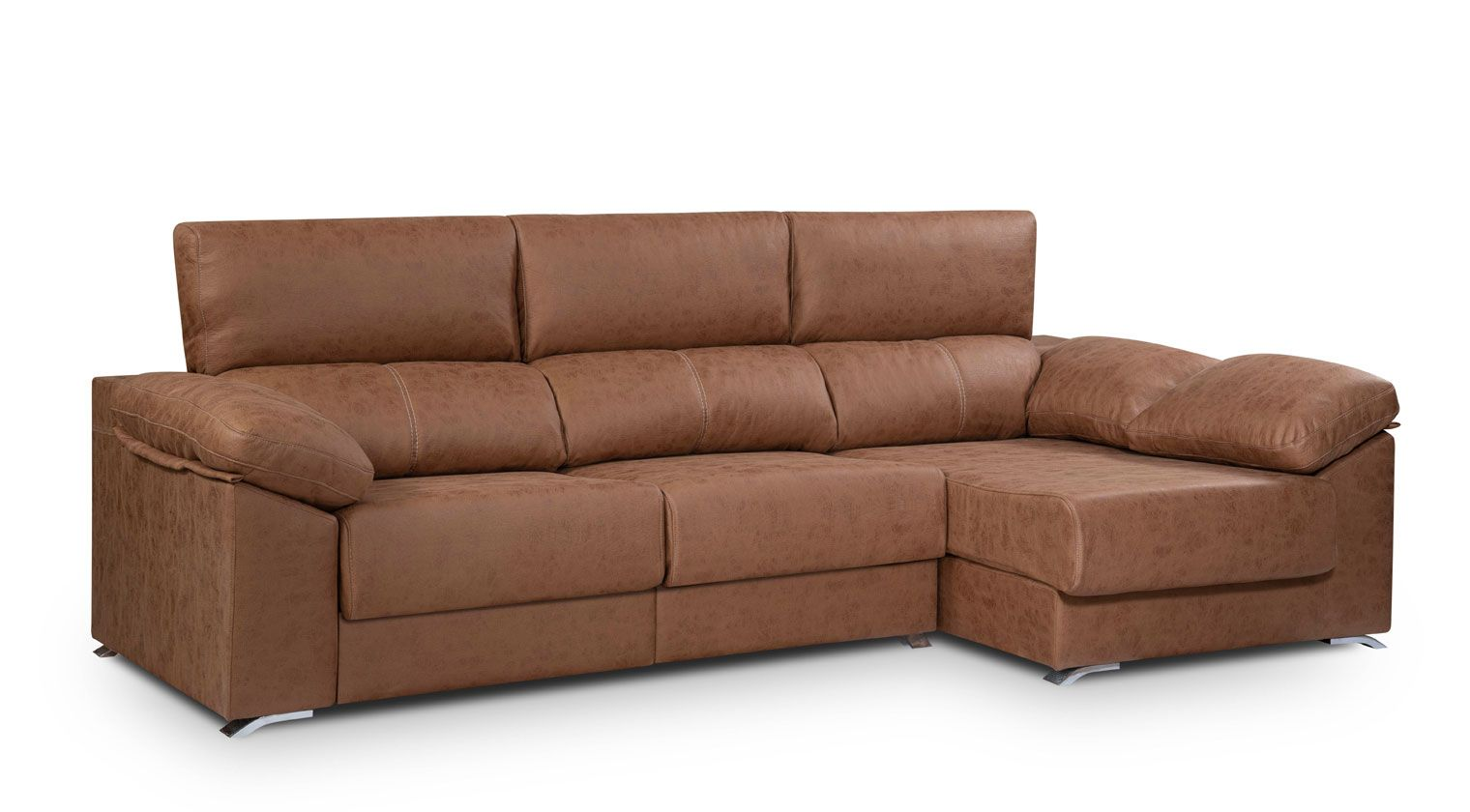 Comprar chaise longue tela lleida mod sofa 4 plazas chaise for Sofas baratos asturias