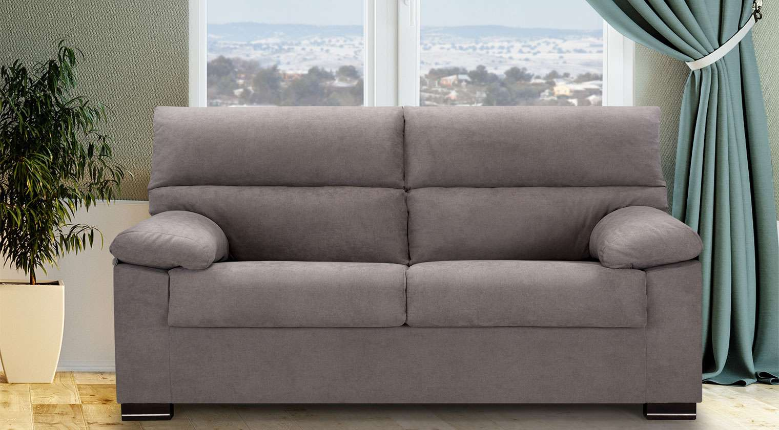 Comprar sof tela herm s sofa 3 plazas rolex alba for Sofas baratos asturias