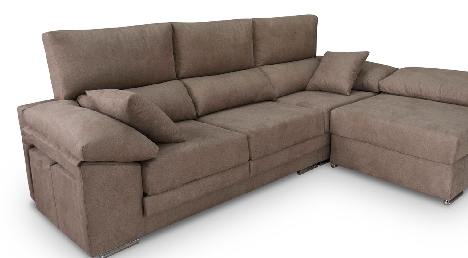 Comprar chaise longue kibo chaise longue 4 plazas tela ilinois for Sofa extensible 4 plazas