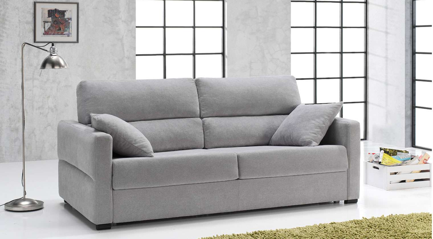 Sof cama vals sofas cama apertura italiana for Muebles de oficina kalea