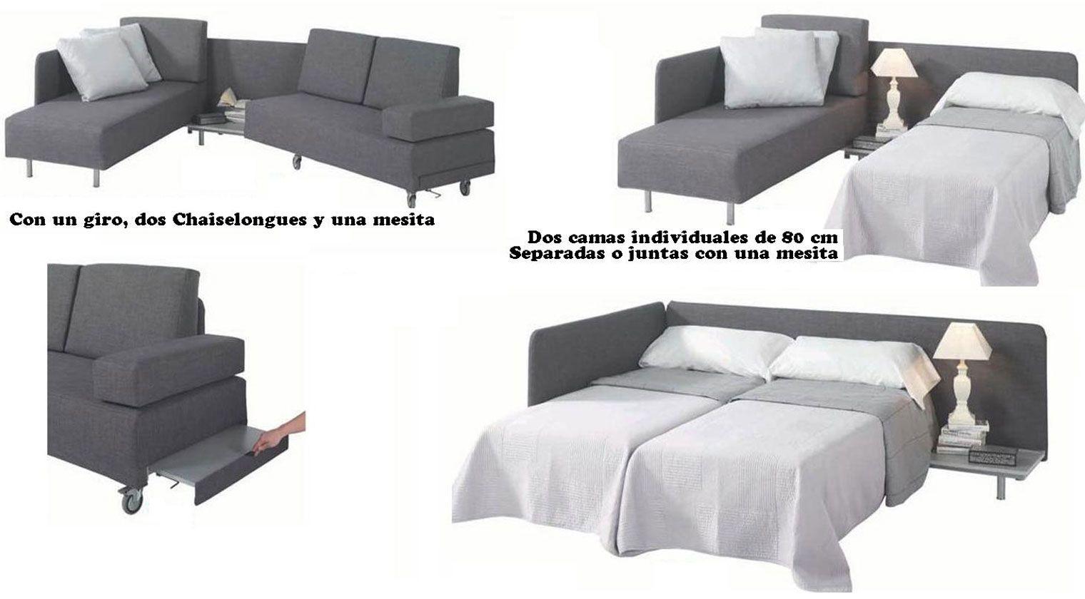 Sof cama laval sofas cama convertibles for Sofa cama dos camas