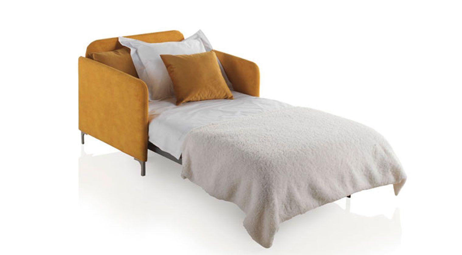 Comprar sof cama nancy 2 plazas cama de 120x190 cm ambar for Sofas baratos asturias