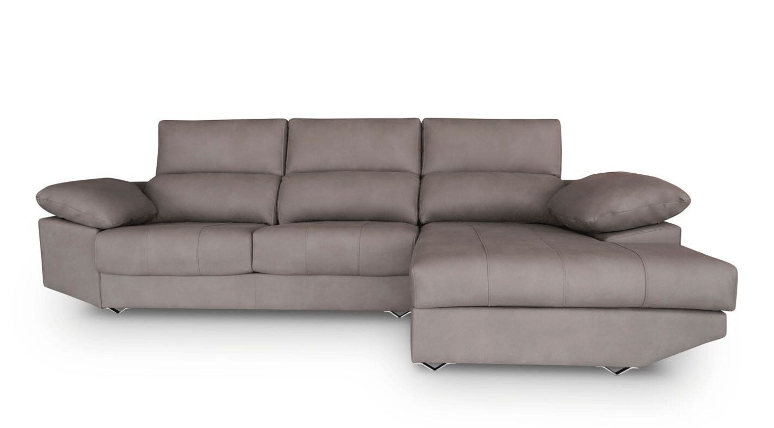 Comprar sof tela invictus chaise longue 4 plazas for Sofas baratos asturias