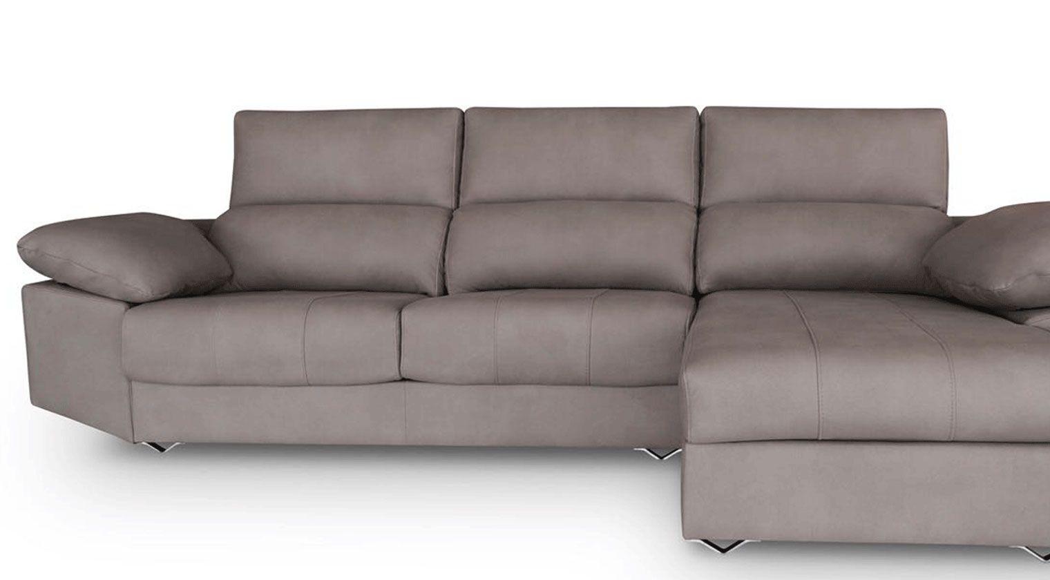 Comprar sof tela invictus chaise longue 4 plazas tela varese for Sofas baratos asturias