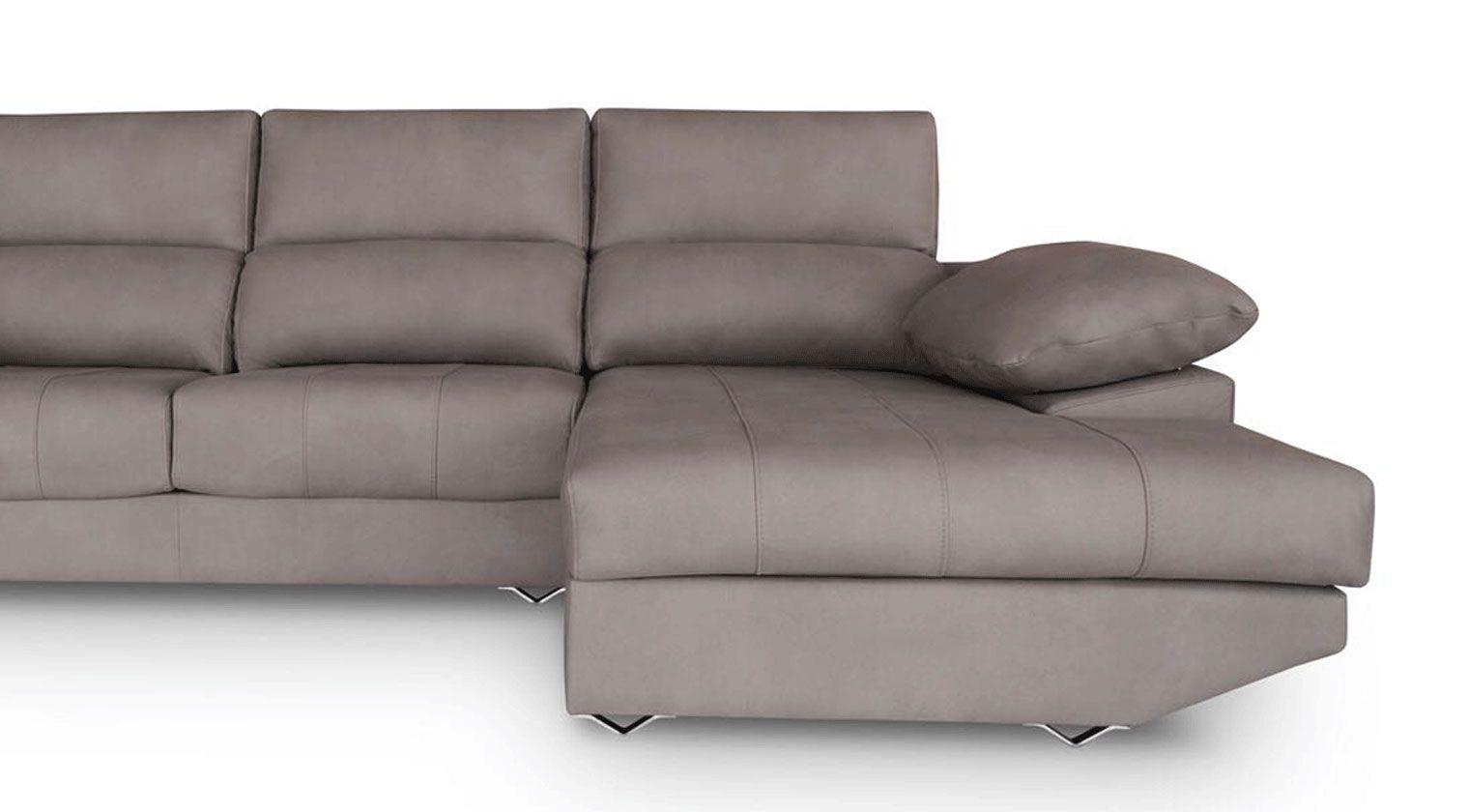 Comprar sof tela invictus chaise longue 3 plazas tela romer for Sofa blanco barato